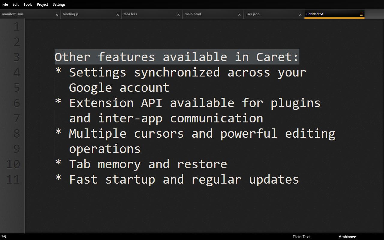 Caret - Professional Text Editing for Chrome and Chrome OS